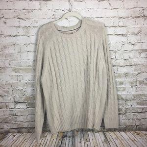 Weatherproof beige cable sweater